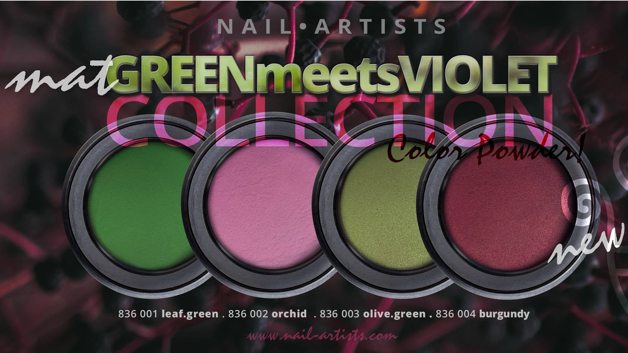 Nieuwe Color Powders van Nail Artists