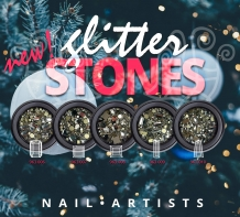 Nail Artists Glitter Stones 5 Iris Wedge